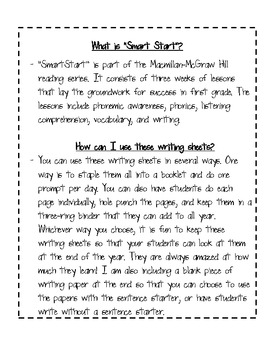 Start Smart Writing Journal Prompts for MacMillan/McGraw-Hill Treasures