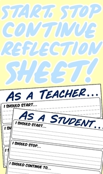 Start, Stop, Continue Relfection Sheet