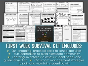 Start Strong, Finish Strong: Back to School and End of Year Activities Bundle
