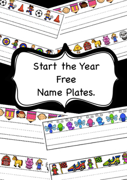 Start The Year Free Name Plates.