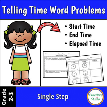 Start Time - End Time and Elapsed Time Word Problems