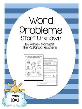 Start Unknown Word Problems {Journal Packet} 1.OA.1