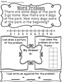 Start Unknown Subtraction Word Problems Pack