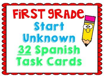 Start Unknown Task Cards (Spanish)