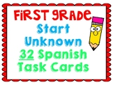 Start Unknown Task Cards (Spanish)