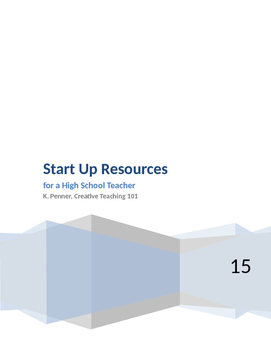 Start Up Resources for Classroom Teachers