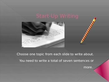 Start-Up Writing 1-10
