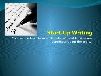 Start-Up Writing 21-40