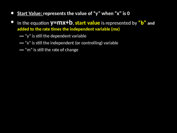 Start Value in Equations