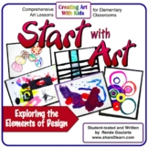 Art Lesson Bundle Start With Art Introducing Elements of A