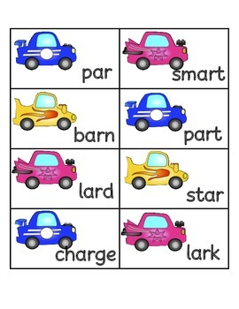 """Start Your Cars! An R-Controlled Vowel Game for """"ar"""""""