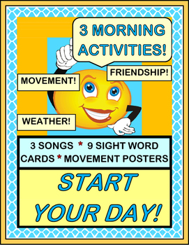 """Start Your Day!"" - Three Activities for a Fun Morning!"