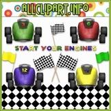 $1.00 BARGAIN BIN - Start Your Engines Clip Art