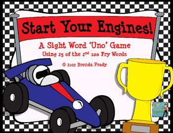 Start Your Engines Sight Word Game