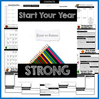 Start Your Year Strong BUNDLE  EDITABLE