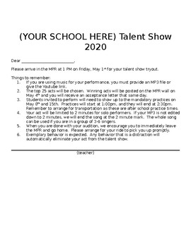 Start a Talent Show at Your School- top seller