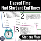 Start and End Times Stations Maze Activity - Elapsed Time