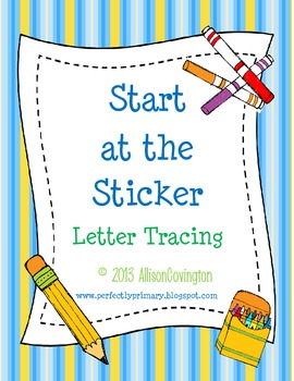 Start at the Sticker-Letter Tracing
