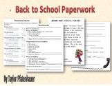 Start of School Paperwork