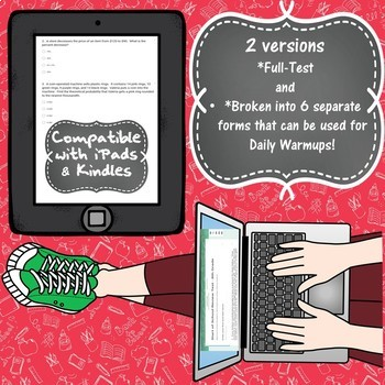 Start of School Review Test - 6th Grade Math - Google Form Quiz