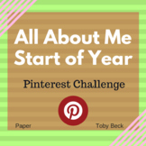 "Start of Year ""All About Me"": Pinterest Design Challenge"