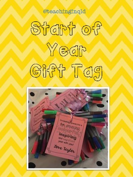 Start of Year Gift Tags *FREEBIE*