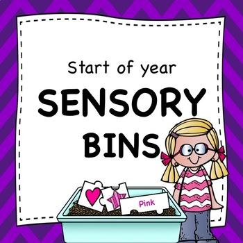 Start of Year Sensory Bins for Early Childhood
