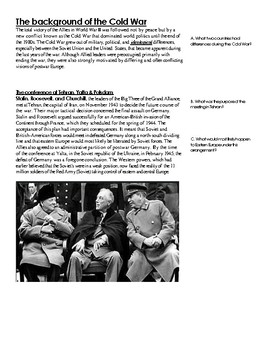 Start of the Cold War 1945-49 Programmed Reading