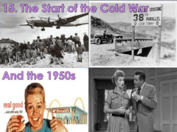 Start of the Cold War/1950s U.S. History BUNDLE
