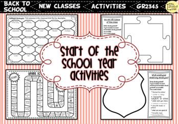 Start of the School Year / Back to School Activities (UK SPELLINGS)