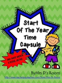 Start of the Year Time Capsule