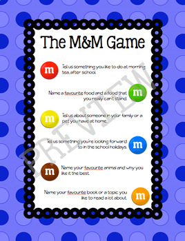 Start of the year M&M Game