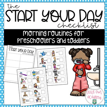 Start the Day Checklist-Morning Routines for Toddlers and Preschoolers