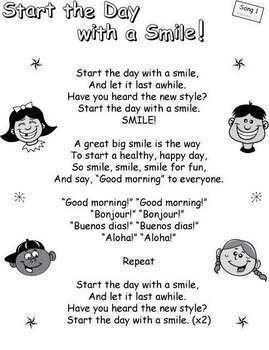 "Beginning of the Year Classroom Community Songs: ""Start the Day With a Smile"""