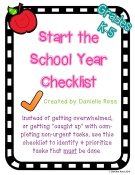 Start the School Year Checklist