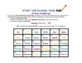 "Start the School Year ""WRITE"" - 30-Day Fitness Challenge"