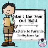 Start the Year Out Right-Letters to Parents
