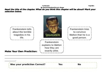 Start-to-Finish Frankenstein Student Worksheets
