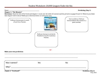 Start-to-Finish Guided Reading Student WS for 20,000 Leagues Under the Sea