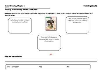 Start-to-Finish Guided Reading Student Worksheets for Border Crossing