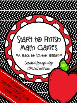 • Start to Finish Math Games: Back to School Edition •