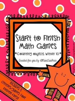 • Start to Finish Math Games: Counting 1-9 •