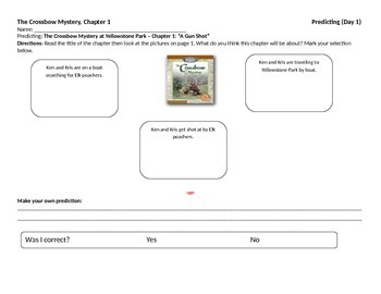 Start-to-Finish Student WS for Guided Reading The Crossbow Mystery (Yellowstone)