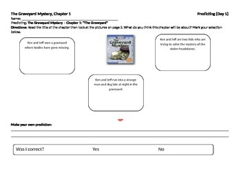 Start-to-Finish Student WS for Guided Reading The Graveyar