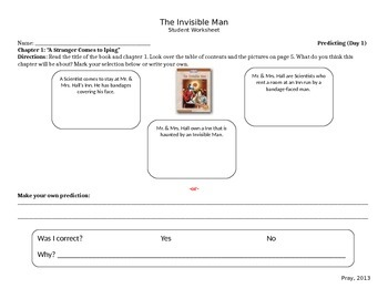 Start-to-Finish Student WS for Guided Reading The Invisible Man