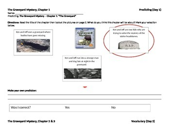 Start-to-Finish Teacher WS for Guided Reading The Graveyard Mystery