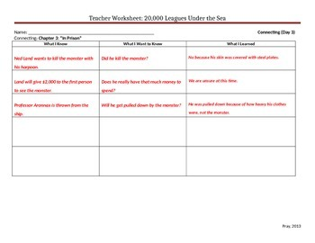 Start-to-Finish Teacher WS for Guided Reading for 20,000 Leagues Under the Sea