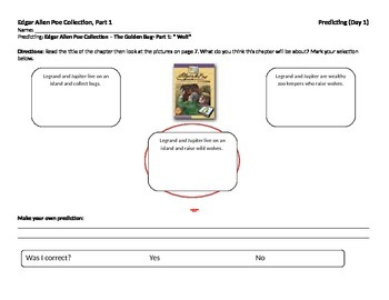 Start-to-Finish Teacher WS for Guided Reading for Edgar Allen Poe Collection