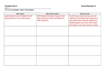 Start-to-Finish Teacher Worksheets for Guided Reading Macbeth