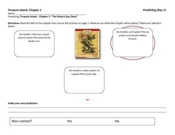 Start-to-Finish Treasure Island Teacher Worksheets